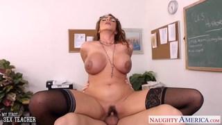 Hot sex teacher Ariella Ferrera fuck her younger s