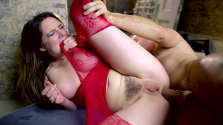 Busty UK tart Samantha Bentley endures big dick anal