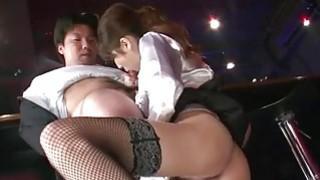 Office bimbo Rino Asuka blows on a big dick