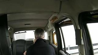 Big boobs blonde passenger anal screwed by fake driver
