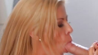 Hot MILF Alexis Fawx does laundry an extra load of dick and balls