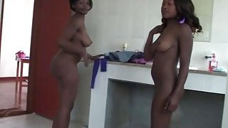 Horny amateur white stud has an amazing adventure with two lusty ebony chicks